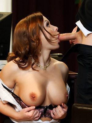 Katja Kassin is the perfect secretary for Richie Calhoun she loves taking anal dick-tation.