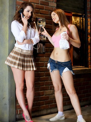 Dani Daniels & Danika Pierce- Lesbian The Paperboy Bootcamp